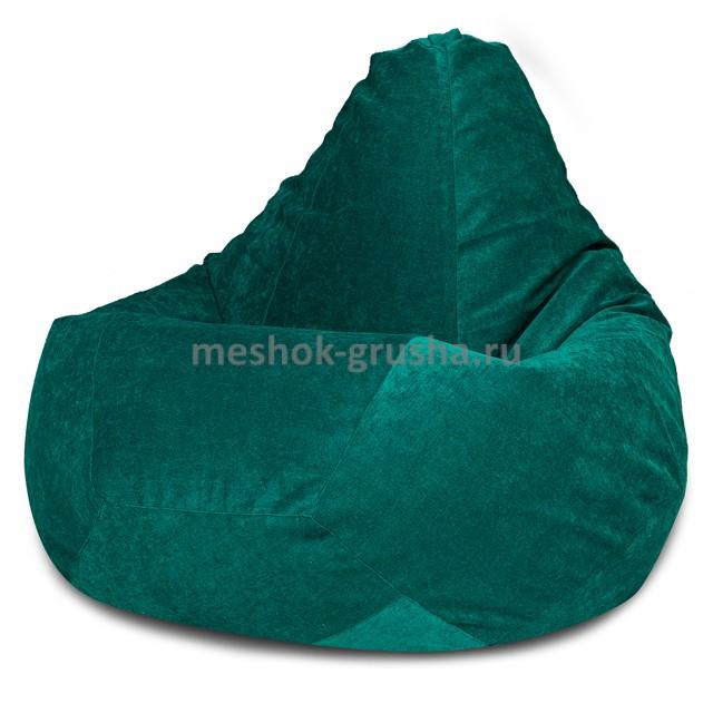 Кресло Мешок Груша Изумрудный Микровельвет (L, Классический)