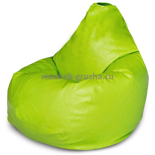 Кресло Мешок Груша Салатовая ЭкоКожа (2XL, Классический)