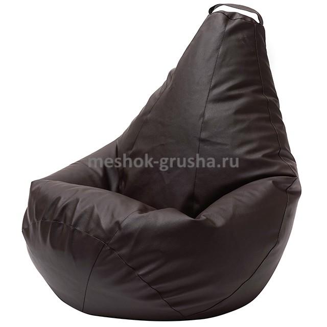 Кресло Мешок Груша Коричневая ЭкоКожа (3XL, Классический)