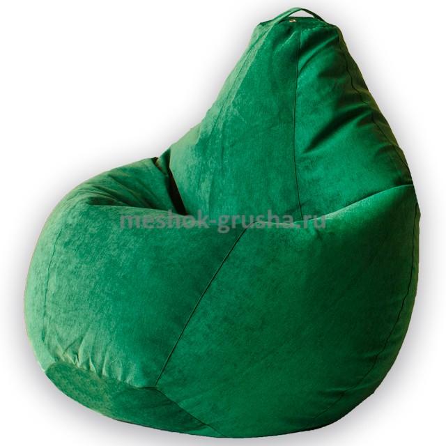 Кресло Мешок Груша Зеленый Микровельвет  (XL, Классический)