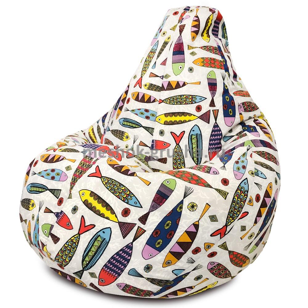 Кресло Мешок Груша Рыбки (2XL, Классический)