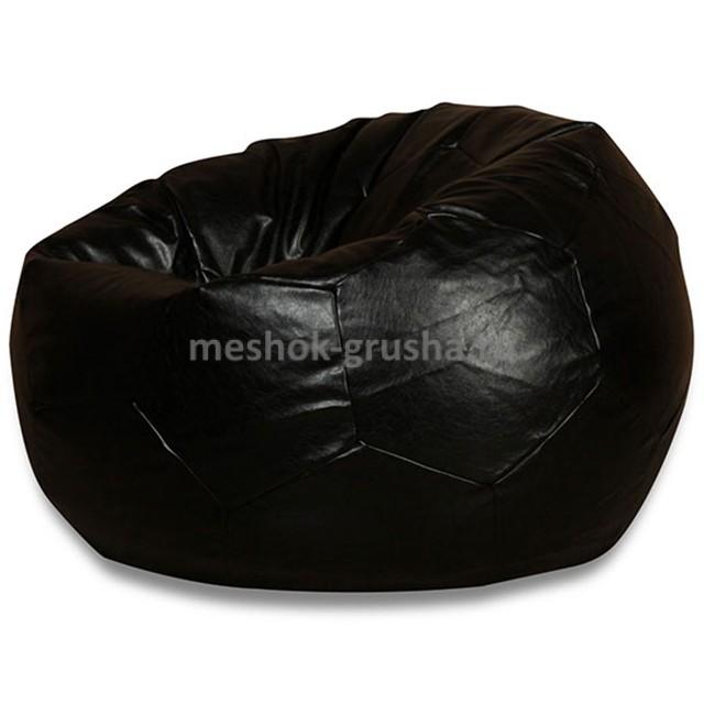 Кресло Мяч Черный ЭкоКожа (Классический)